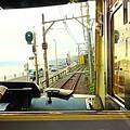 Photos: 線路と車と海