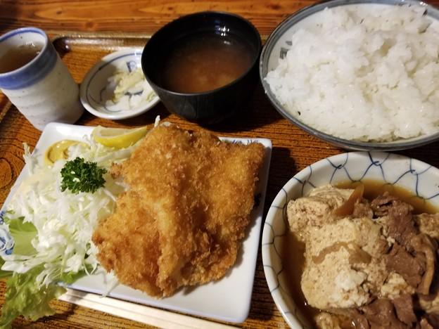 180911【みますや】白身魚+肉豆腐/800円(東京都千代田区神田司町2-15-2)