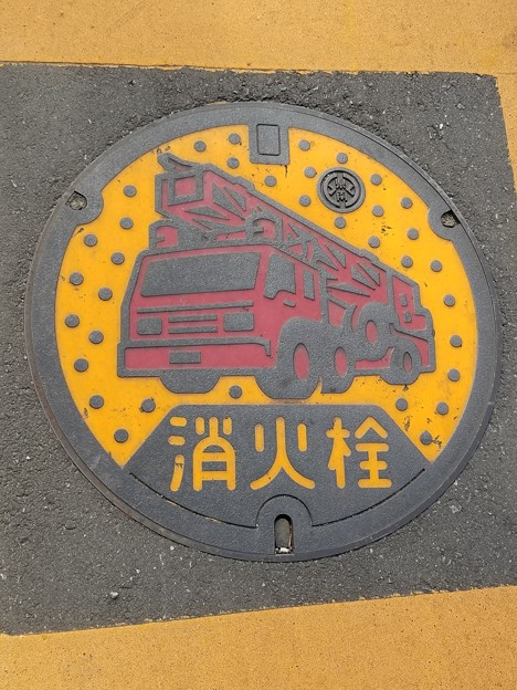 茨城県南水道企業団のフタ(消火栓)