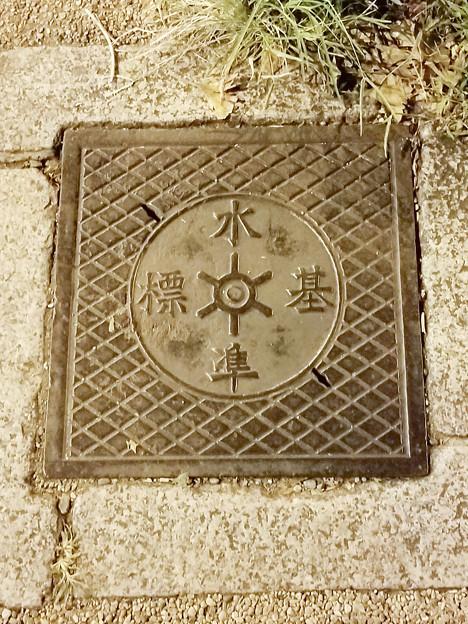 東京都のフタ(水準基標)