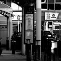 写真: バス停にて