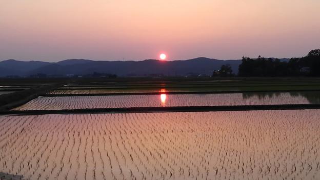 田植え頃の夕焼け (3)