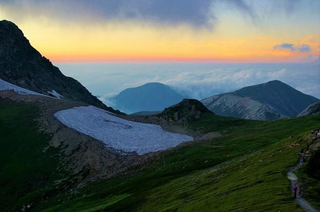 Photos: 白馬から旭岳方向を見る