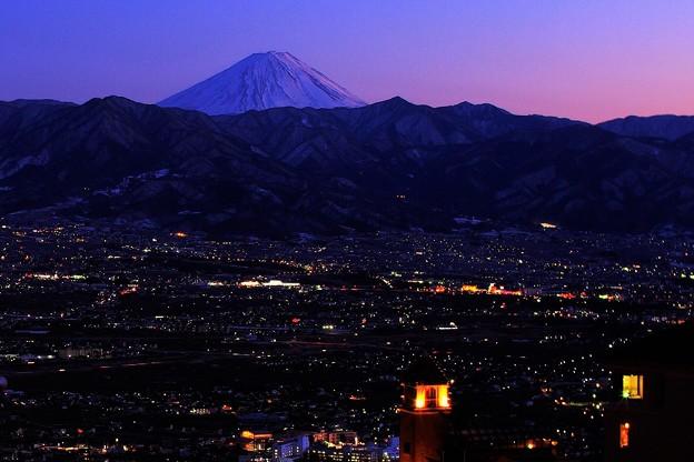 写真: 日没の富士 2