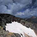 硫黄岳 爆裂跡
