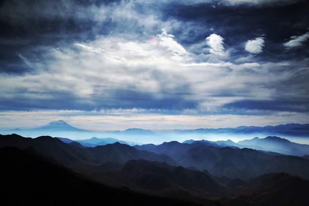 瑞牆山からの富士山