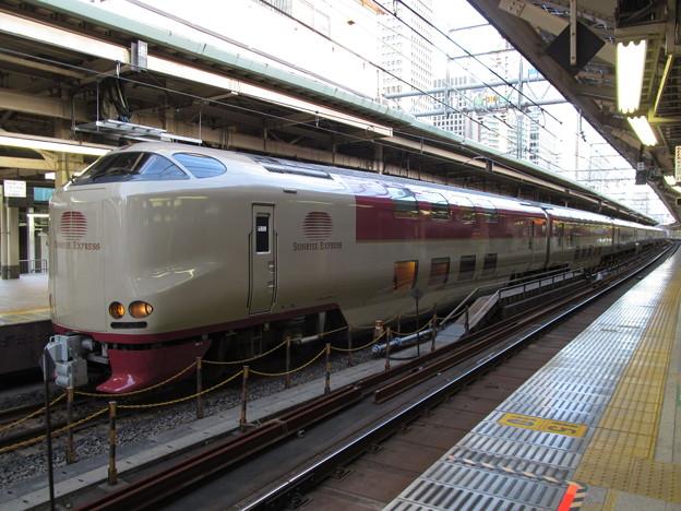 東京駅に到着したサンライズエクスプレス