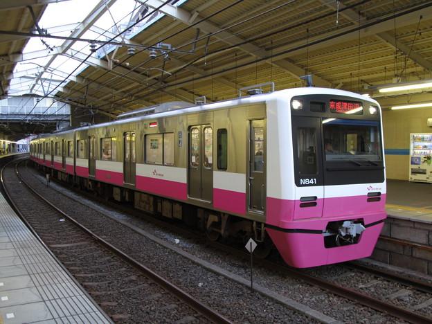 新津田沼駅に停車する新京成N800形