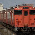 朱色一色のキハ47形2000番代