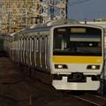 平井駅に入線するE231系500番代ミツA502編成