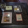 コーヒー豆のテーブル