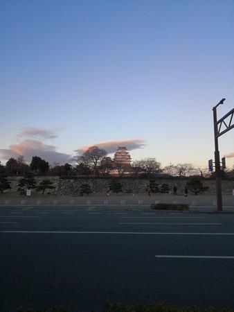 夕日の姫路城
