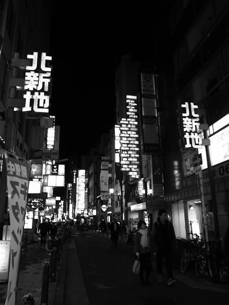 ネオン街 夜