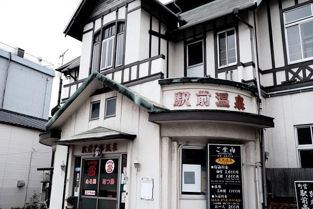 駅前のレトロな温泉-大分県別府市