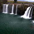 平地に突然現れる名瀑-大分県豊後大野市:原尻の滝