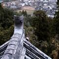 天守からの眺め-宮崎県綾町:綾城