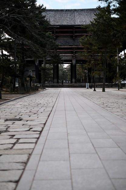 人がいない-奈良県奈良市:東大寺南大門