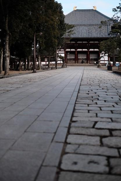 ここにも人がいない-奈良県奈良市:東大寺大仏殿