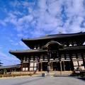 眩い青空-奈良県奈良市:東大寺大仏殿