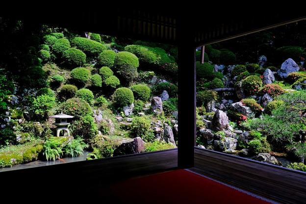 書院から眺める浄土苑-京都府長岡京市:楊谷寺