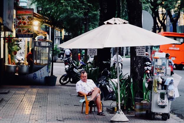 働かない男性-Ho Chi Minh, Viet Nam