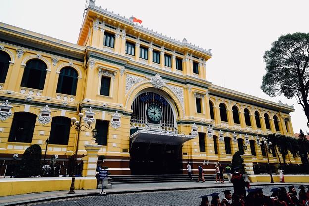 エッフェルが設計した郵便局-Ho Chi Minh, Viet Nam