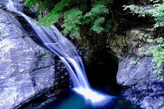 涼を求めて-奈良県天川村:みたらい渓谷