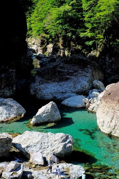 夏休み-奈良県天川村:みたらい渓谷