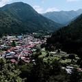 眼下を一望-奈良県天川村:洞川温泉