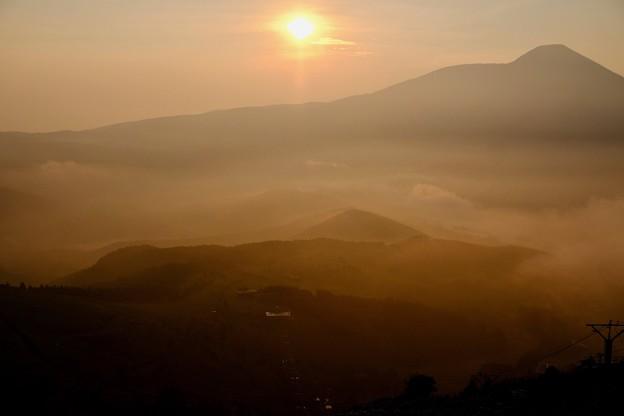 山の朝-長野県諏訪市:霧ヶ峰