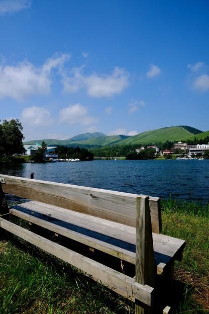 高原と湖-長野県茅野市:白樺湖