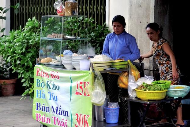 朝の露店-Ho Chi Minh, Viet Nam