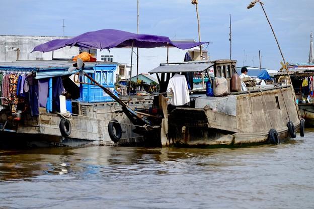 Photos: 長い竿の先-Cai Be, Viet Nam