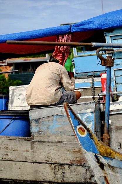 生活と観光客-Cai Be, Viet Nam
