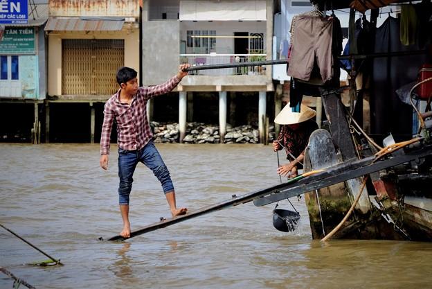 川と共に暮らす-Cai Be, Viet Nam