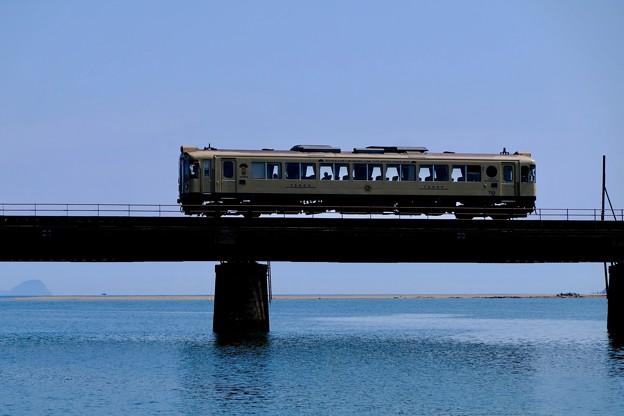 Photos: 空、川、海が一体となった場所-京都府宮津市:由良川橋梁
