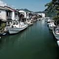 Photos: 水路と漁船-京都府舞鶴市:吉原