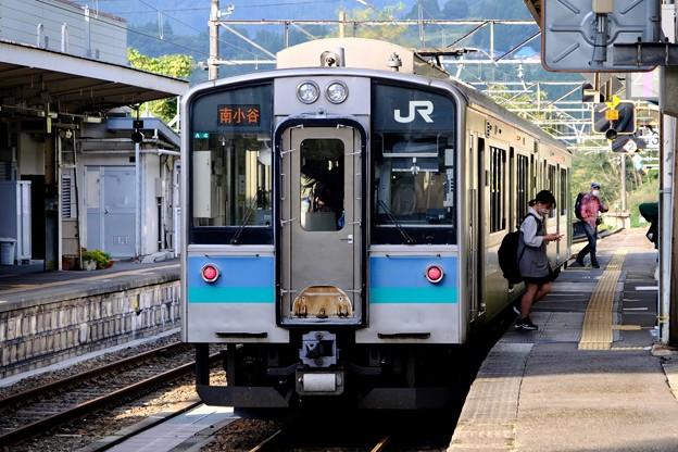 山あいにある駅へ-長野県小谷村:南小谷駅