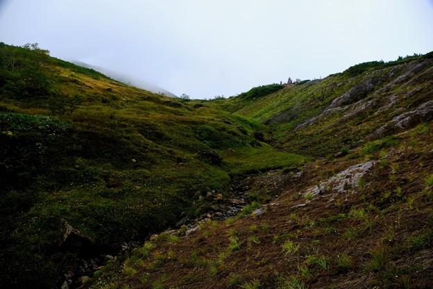霧の中-長野県白馬村:八方尾根