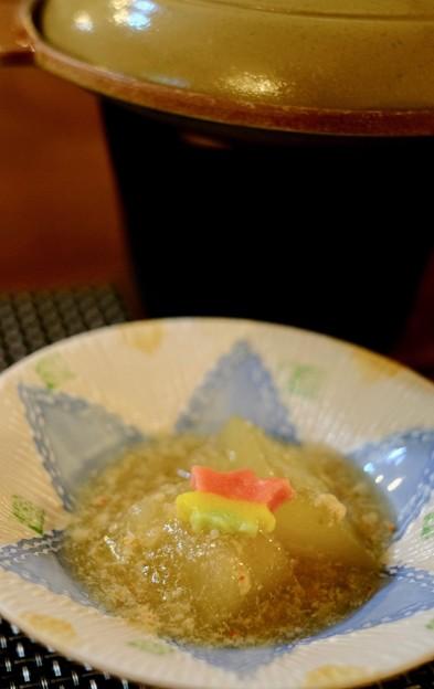 夏なのに冬瓜とは-長野県小谷村:「プチホテル アイリス」