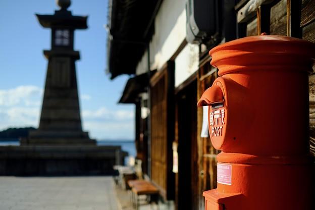 懐かしい郵便ポスト-広島県福山市:鞆の浦