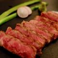 Photos: お肉も堪能-広島県廿日市市:宮島・「ゲストハウス 菊がわ」