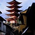 Photos: 青空に聳ゆ五重塔-広島県廿日市市:宮島