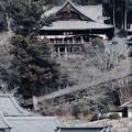本堂を眺めて-奈良県桜井市:長谷寺