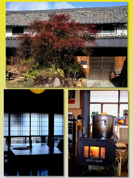 薪ストーブのそばで-奈良県葛城市:「酪農カフェ 酪」