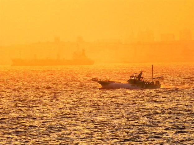 海の風景 オレンジ