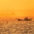 写真: 海の風景 オレンジ