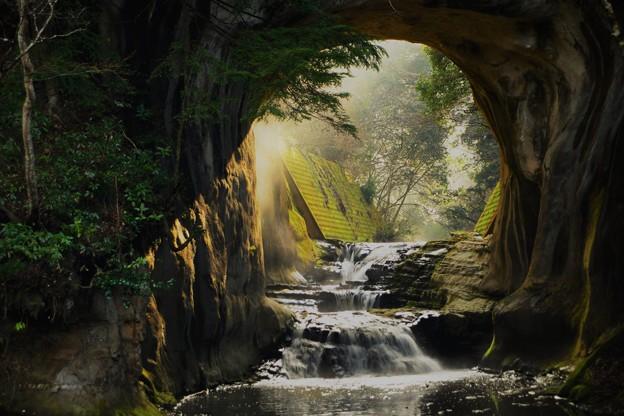 亀岩の洞窟 (3)