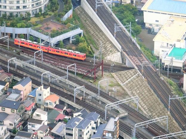 東武亀戸線を俯瞰しています。