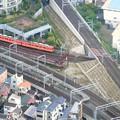 Photos: 東武亀戸線を俯瞰しています。